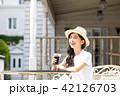 女性 アイスコーヒー 若いの写真 42126703