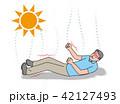 熱中症 シニア 痙攣のイラスト 42127493