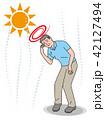 熱中症 シニア 男性のイラスト 42127494