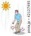 熱中症 シニア 男性のイラスト 42127495