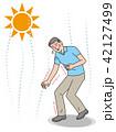 熱中症 シニア 男性のイラスト 42127499
