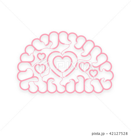 Electric wire cable Brain pink color Love concept 42127528
