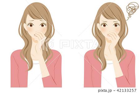鼻をつまむ 柔軟剤の匂い トラブル 香害 42133257