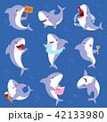 サメ シャーク 鮫のイラスト 42133980