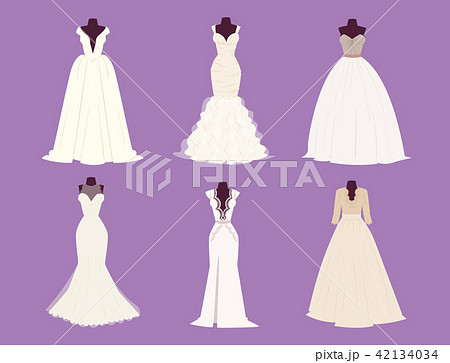 a2998bafe895b Wedding bride dress elegance style celebration bridal shower clothing  accessories vector