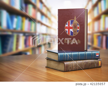 Learn English concept. English dictionary book 42135057