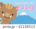亥 富士山 亥年のイラスト 42136513