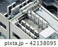 ビルの屋上・イメージ・空調設備・電力変電設備 42138095
