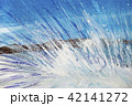 水しぶき 怒涛 波 波動 水彩画 手書き 42141272