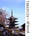 3月 枝垂桜の八坂の塔-京都東山の春- 42143961