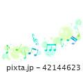 音符 音楽 背景のイラスト 42144623