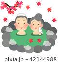 温泉 露天風呂 夫婦のイラスト 42144988