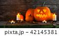 ハロウィン カボチャ 燈篭の写真 42145381