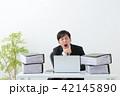 ビジネスマン 残業 オフィス 42145890