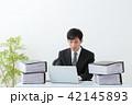 ビジネスマン 残業 オフィス 42145893