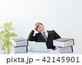 ビジネスマン 残業 オフィス 42145901