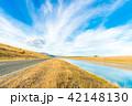 ニュージーランド 川 道路の写真 42148130