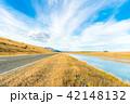 ニュージーランド 川 道路の写真 42148132