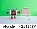ロボット イーゼル 紙の写真 42151086
