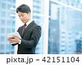 タブレット端末を持ったビジネスマン 幹部社員 ビジネスイメージ 42151104