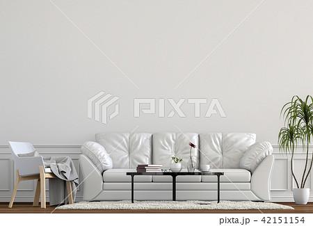 Living room interior in modern style, 3d render 42151154