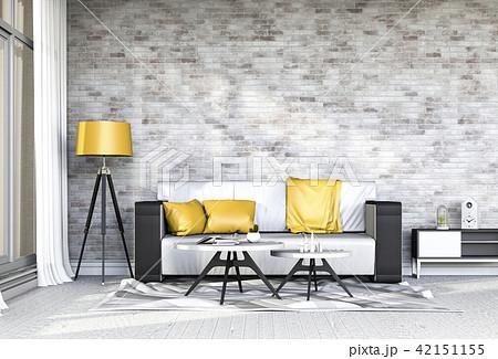 Living room interior in modern style, 3d render 42151155