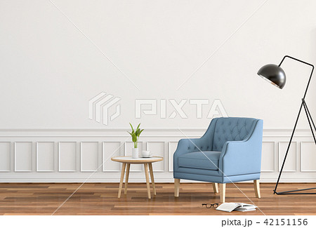 Living room interior in modern style, 3d render 42151156