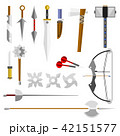 Knife weapon dangerous vector illustration of sword spear edged weapons combat andbonder bayonet. 42151577