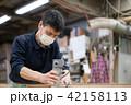 工場 職人 大工 作業 作業員 トリマー 目地払い  42158113