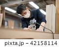 工場 職人 大工 作業 作業員 トリマー 目地払い  42158114