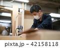 工場 職人 大工 作業 作業員 トリマー 目地払い  42158118