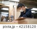 工場 職人 大工 作業 作業員 トリマー 目地払い  42158120