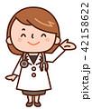 案内 女性 医者のイラスト 42158622