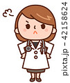 怒る 女性 女医のイラスト 42158624