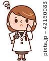 女医 医者 医師のイラスト 42160083