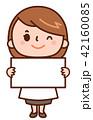 ホワイトボード 女医 医師のイラスト 42160085