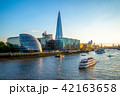 skyline of london by the thames river 42163658