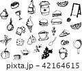 手書き 食品 果物のイラスト 42164615