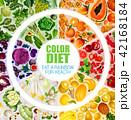 食べ物 カラー 色のイラスト 42168184
