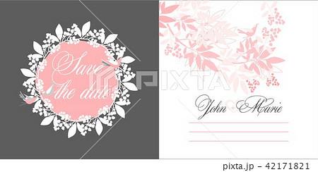 wedding invitation templateのイラスト素材 42171821 pixta