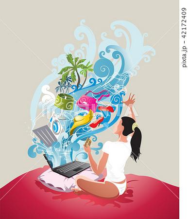 e-commerce concept art 42172409