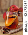 Apple cider with spices. 42172967