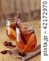 Apple cider with spices. 42172970