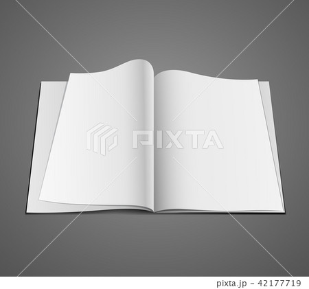Vector Open white page design background 42177719