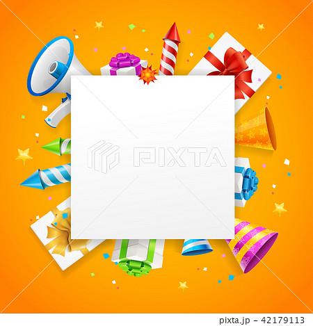 Birthday or Anniversary Celebration Banner Card Background. Vector 42179113