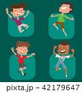 子ども 子供 ジャンプのイラスト 42179647