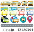 バス 乗り物 アイコンのイラスト 42180394