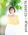 大学生 女性 本の写真 42180676