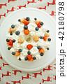 ストロベリー(苺、イチゴ、いちご)とブルーベリーのデコレーションケーキ 42180798