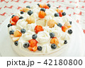 ストロベリー(苺、イチゴ、いちご)とブルーベリーのデコレーションケーキ 42180800